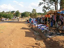 Straat in Chipata.