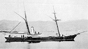Japanese gunboat Chiyodagata - Image: Chiyodagata