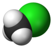 Spacefill model of chloromethane