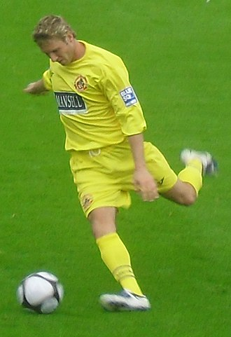 Chris Carruthers - Carruthers playing for Crawley Town in 2009