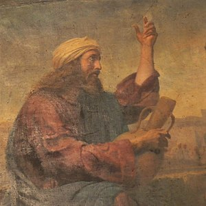 Charles-Joseph Traviès de Villers - Image: Christ et la Samaritaine by Traviès de Villers (detail)