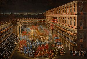 Palazzo Barberini - Celebrations for Christina of Sweden at Palazzo Barberini on 28 February 1656.