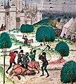 Chroniques de Froissard Paysans massacrant un noble.jpg