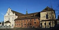 Church of Our Lady Assumed into Heaven and St Vaclav & cistercian abbey, 11 Klasztorna street, Mogiła, Nowa Huta, Krakow, Poland.jpg