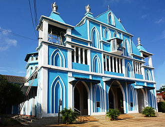 Sri Lankan Tamils - The Church of Our Lady of Presentation, one of the Portuguese era churches, built as a palm-leaf hut in 1624.