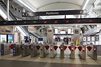 Opal card - Ticket gates at Circular Quay station