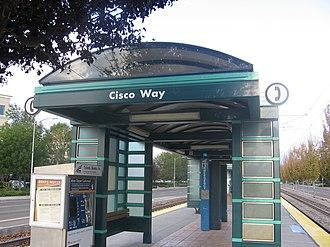 Cisco Way station - Cisco Way Station platform, 2012