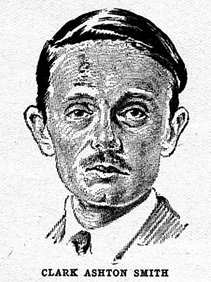 Clark Ashton Smith - Smith as depicted in Wonder Stories in 1930