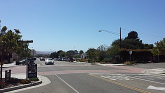 Orcutt, California - Clark Avenue in downtown Old Orcutt, looking west, between Highways 1 and 135