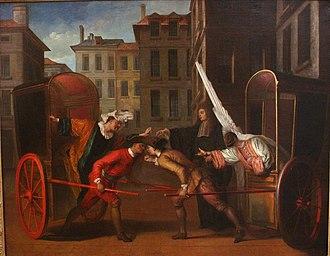 Claude Gillot - Les Deux Carrosses by Claude Gillot, 1707