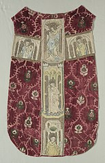 Chasuble Back with Embroidered Orphrey Band
