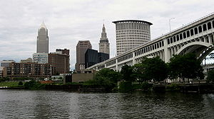 Cleveland's current skyline as seen from the F...