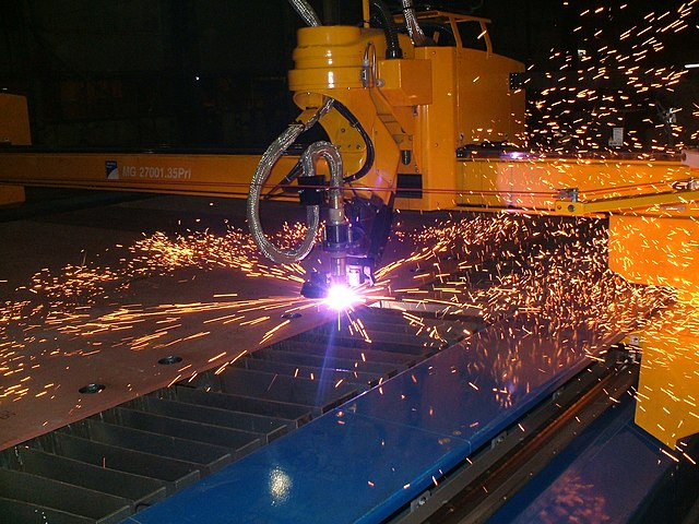 sparks from a machine
