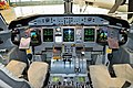 Cockpit of Austrian Airlines De Havilland Canada DHC-8-400 OE-LGO.jpg