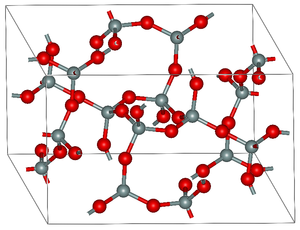 Coesite - Atomic structure of coesite