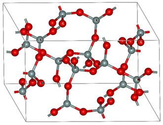 Coesite - Atomic structure of coesite
