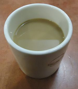 Half and half - Coffee mixed with half and half