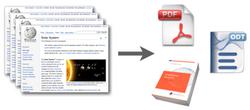 Artikel auswählen und als Buch, PDF oder OpenDocument erstellen