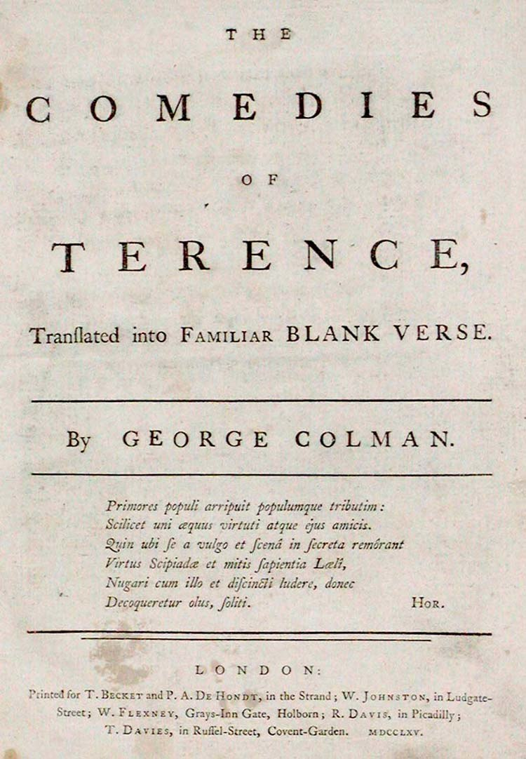 Colman Terence title page