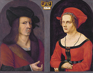 Nuptial Portrait of Coloman Helmschmid and Agnes Breu