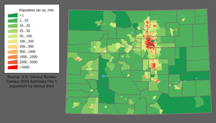 Colorado population map