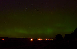 Tri-Cities, Washington - Aurora Borealis as seen approximately 25 miles north of Pasco, WA in May 2013