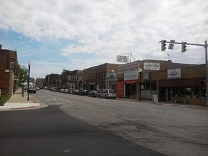 Lowell, Indiana - Commercial Avenue in downtown Lowell