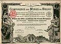 Compagnie des mines de Bruay - Titre de dix actions de cent francs au porteur de 1939.jpg