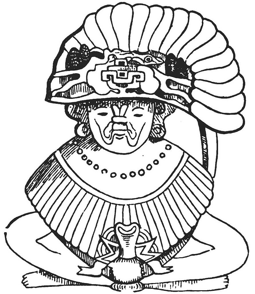 Aztec Head Dress Colouring Pages