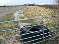 Concrete track, near Bupton Hill Farm, Clyffe Pypard - geograph.org.uk - 1188025.jpg