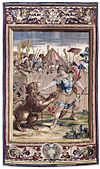 Constantine Slaying the Lion (tapestry) - 1637.jpg