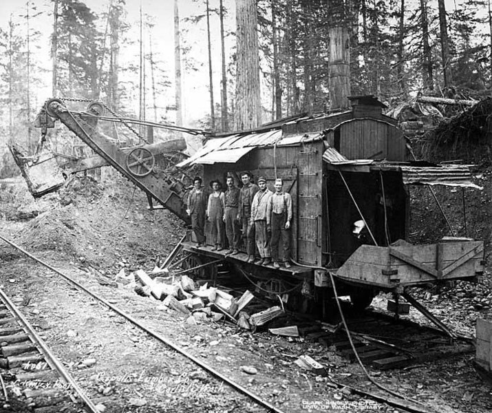 File:Construction crew and steam shovel, Copalis Lumber Company, near Carlisle, ca 1918 (KINSEY 2070).jpeg