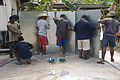 Construction of a water tank funded by AusAID, Nauru 2007. Photo- Lorrie Graham (10690115395).jpg
