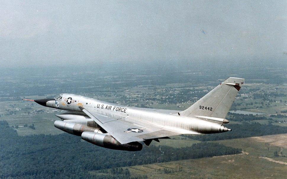 Convair B-58A Hustler in flight (SN 59-2442). Photo taken on June 29, 1967 061101-F-1234P-019