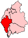 A medium-sized constituency found in the south west of the county.