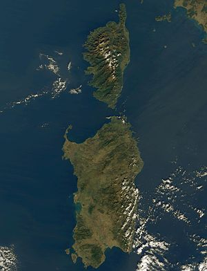 Corsica (France) and Sardinia (Italy) islands,...
