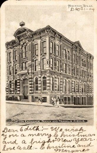 1884 Houston Cotton Exchange Building - Image: Cotton Exchange Building, Houston, Texas (1904)
