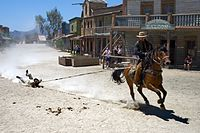 Cowboy show - dragged by a horse.jpg