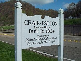 Craik-Patton House - Image: Craik Patton Sign Apr 09