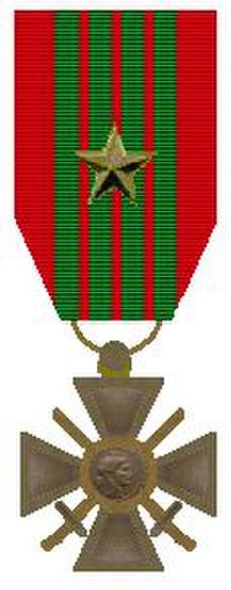 Johan Hendrik Weidner - Image: Croix de Guerre 1940 1945