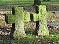Crosses, military cemetery, Vladslo, Flanders.JPG