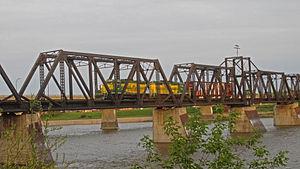 Carlton Trail Railway - Carlton Trail Railway hauling an empty centerbeam car to Carrier Lumber, 2013