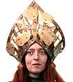 "Crown ""Ukrainian Baroque"" by Lyudmyla Mysko, Tatiana Dreeva-Barker & Tetyana Ilyina (Ukraine) 2004-2007, cooper, enamel, leatherette.jpg"