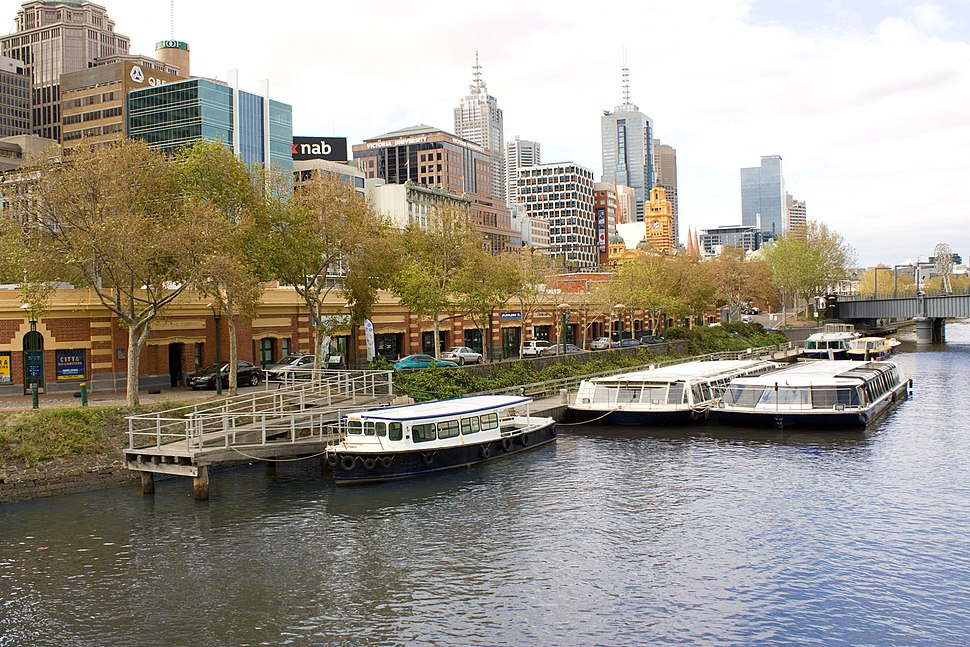 Cruise boats on the Yarra