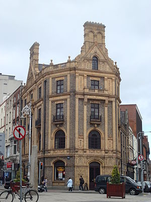 D'Olier Street - The D'Olier Chambers building on the corner of D'Olier Street and Hawkins Street.