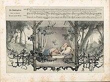 """""""Die Nachtigallen"""", Gedicht von Joseph von Eichendorff, Illustration von Rudolph Jordan (Quelle: Wikimedia)"""