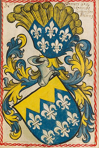 Dalberg - Earlier arms of the Dalberg family, from the Scheibler Armorial