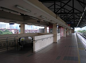 Damai LRT station (Malaysia) - The platform level of Damai station as seen towards the southwest
