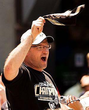 Dan Bylsma - Bylsma pictured during the Pittsburgh Penguins 2009 Stanley Cup championship parade