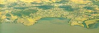 Dapto, New South Wales - Image: Dapto Aerial east